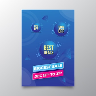 Biggest sale shopping promotional flyer template