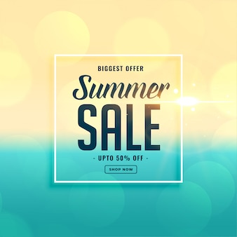 Biggest summer sale beach banner