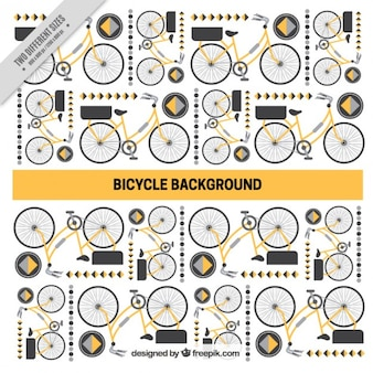 Велосипед и абстрактные фигуры фона