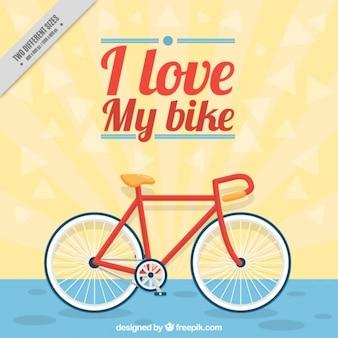 Bike background in flat design