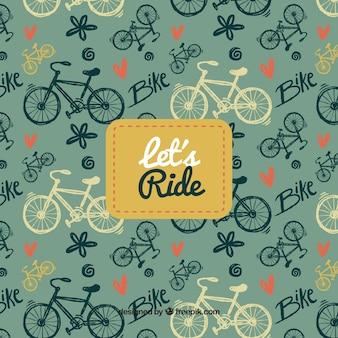 Bike background with pattern design