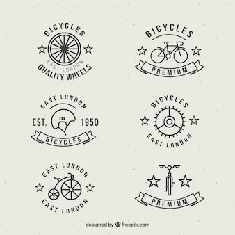 Bike badges in linear style