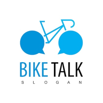 自転車コミュニティのロゴテンプレート