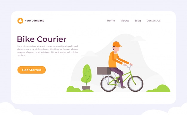 Bike courier landing page