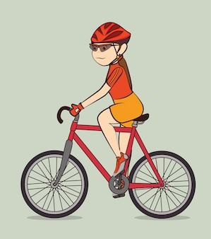 Bike design. Premium Vector