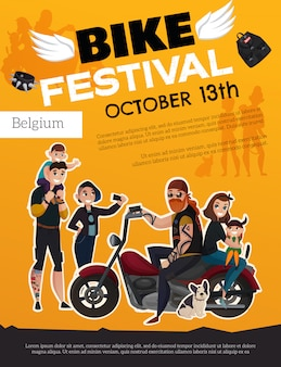 Bike festival subcultures poster