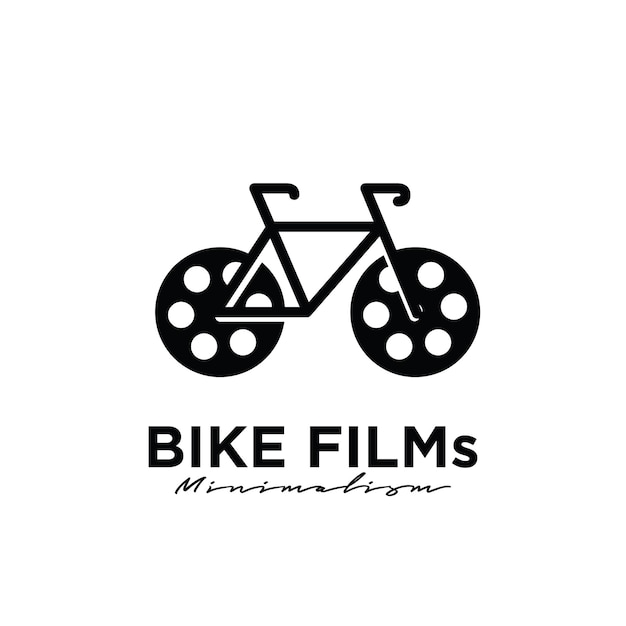 자전거 영화 스튜디오 영화 영화 제작 로고 디자인