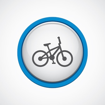 Bike glossy with blue stroke icon, circle, isolated