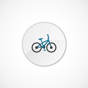 Значок велосипеда 2 цвета, серый и синий, значок круга