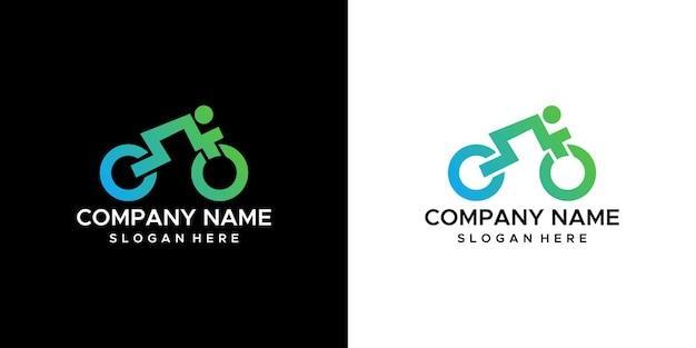 Дизайн логотипа велосипеда