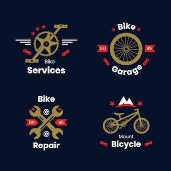 自転車のロゴテンプレートコレクション