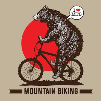Bike mountain biking
