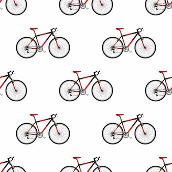 Bike pattern in flat style sport bicycle