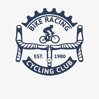 Bike racing cycling club vintage logo template illustration