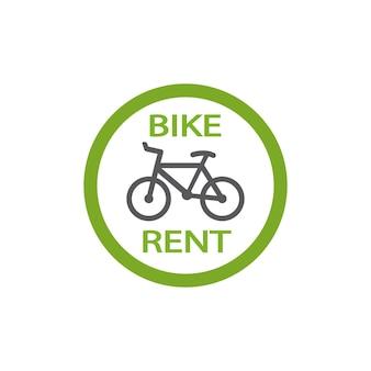 白い背景で隔離の自転車の賃貸アイコン
