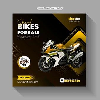 Bike rental social media post template