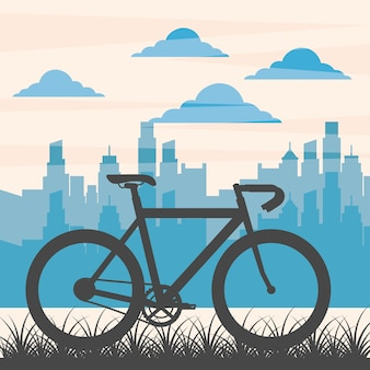 自転車の修理と買い物