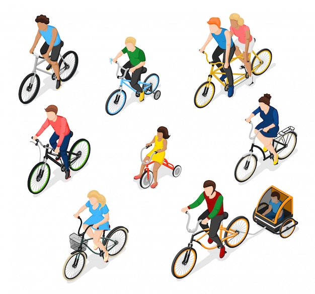 Bike riders character set