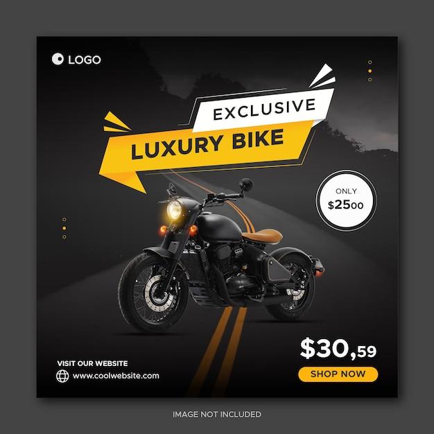 Bike sale instagram social media post banner template