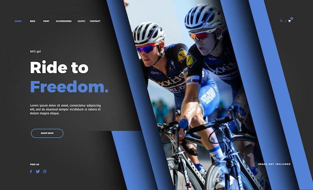 Bike shop landing page template
