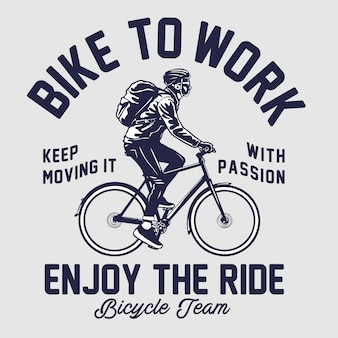 Bike to work illustration
