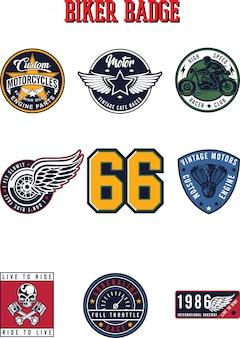 Biker badges