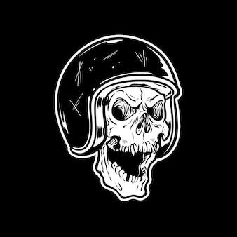 Biker helmet skull