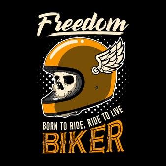 Biker quote and slogan  . freedom, born to ride, ride to live biker.
