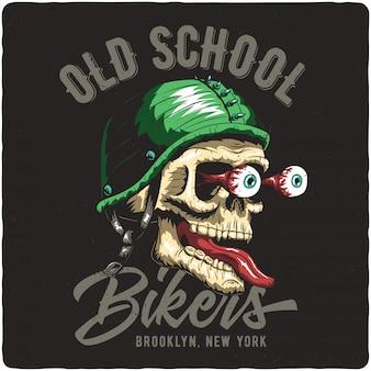 Biker's skull