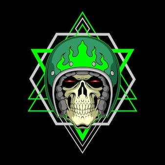 Biker skull for commercial use