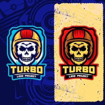 Логотип biker skull esports