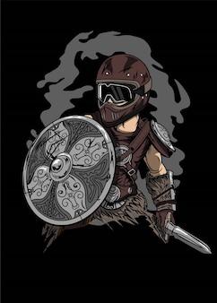 The biker viking