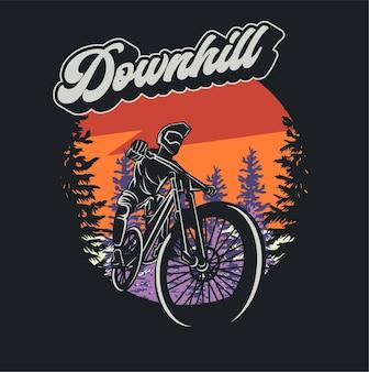 Biking silhouette