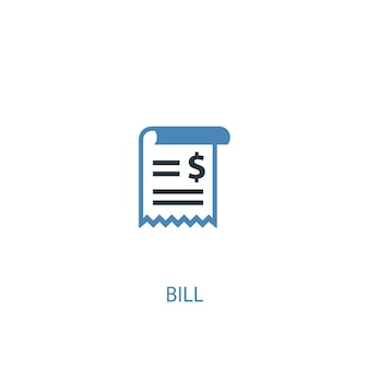 Bill concept 2 colored icon. simple blue element illustration. bill concept symbol design. can be used for web and mobile ui/ux