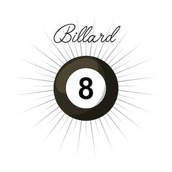白い背景の上にbillardボールのアイコン。カラフルなデザイン。ベクトルイラスト