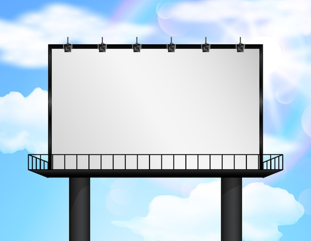 Billboard of blank for new advertisement.
