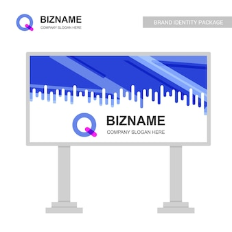 Компания billboard design с логотипом q logo