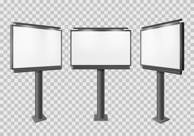 Дизайн рекламного щита изолирован