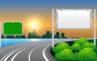 Billboard on the freeway