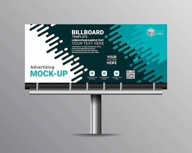 Billboard template designs for outdoor advertising.