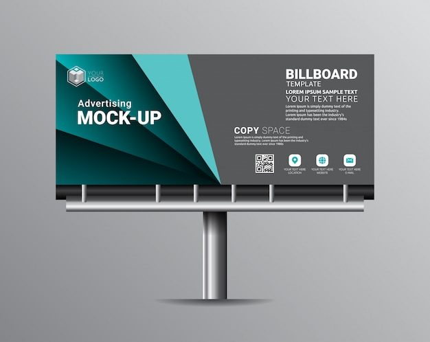 Billboard template designs for outdoor advertising.