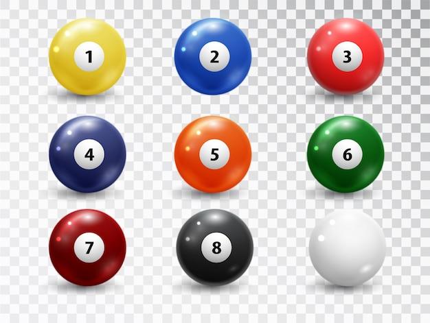Бильярдные шары, набор принадлежностей для бассейна.