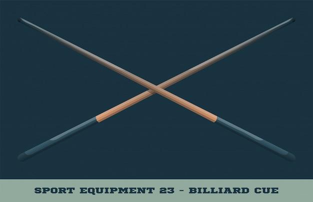 Billiard cue icon
