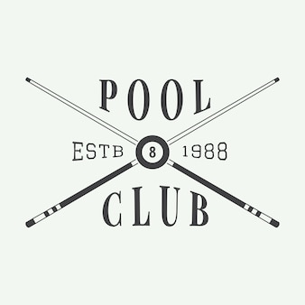 Billiard emblem and logo