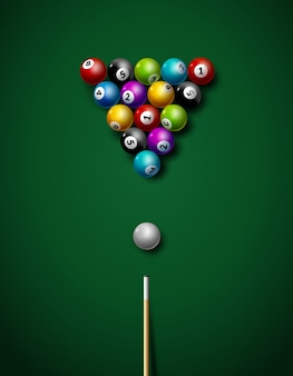 Бильярдная игра, спортивные соревнования, досуг, иллюстрация.