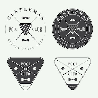 Billiard labels