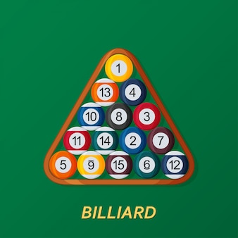Billiard or snooker background. good design template for banner, card, flyer. illustration.