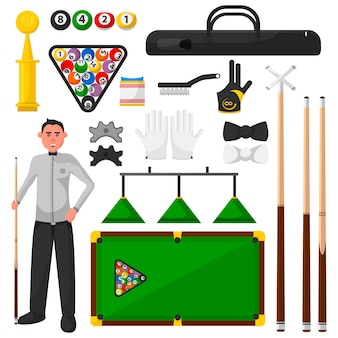 Billiards flat illustration