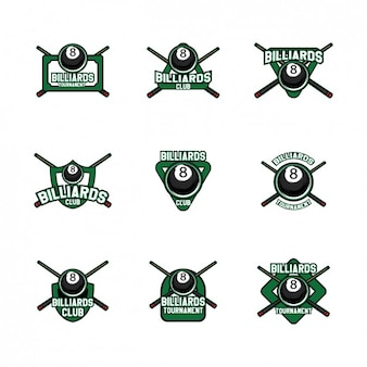 Billiards logo templates design