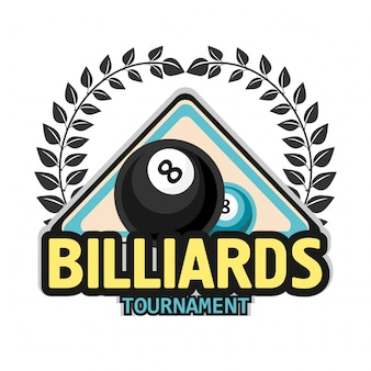Billiards pool and snooker sport icon